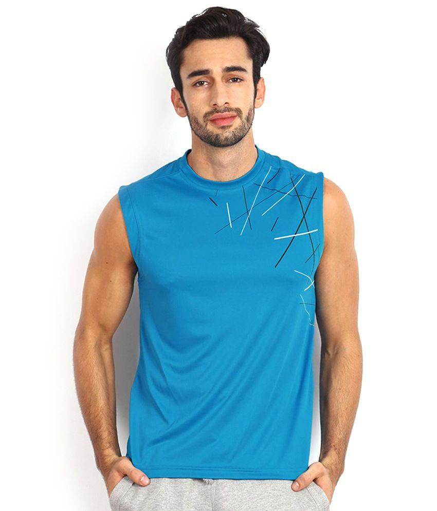 8e0339a504bab2 Reebok Blue Polyester T Shirt - Buy Reebok Blue Polyester T Shirt Online at  Low Price - Snapdeal.com