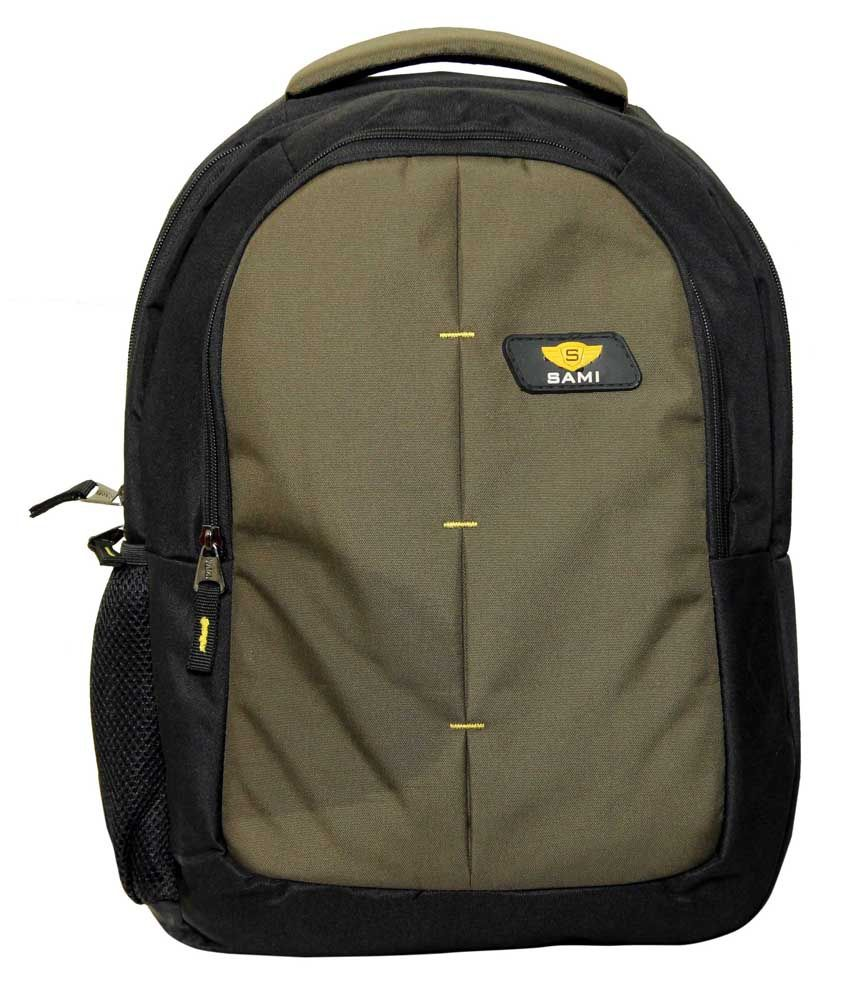 Sami Dark Grey Polyester Laptop Back Packs