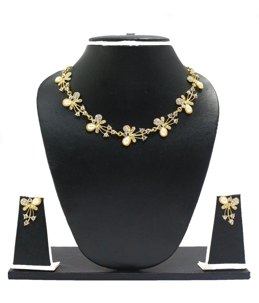 Zaveri Pearls Beautiful Butterfly Necklace Set