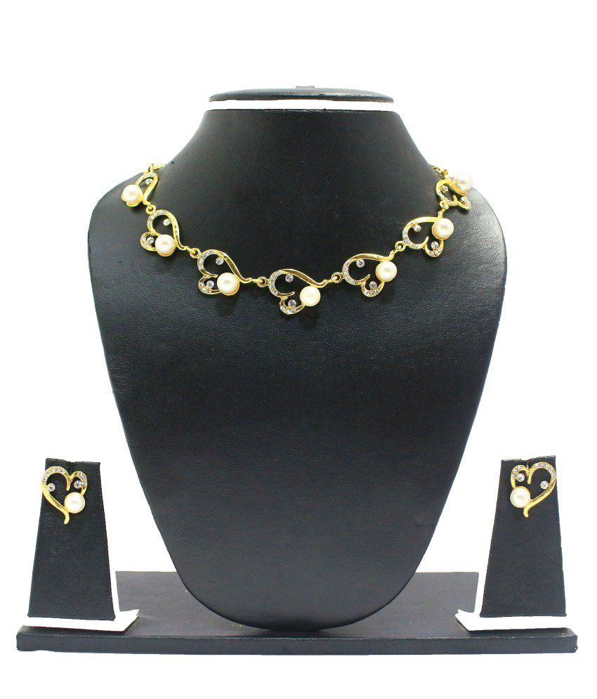 Zaveri Pearls Designer Pearl Necklace Set