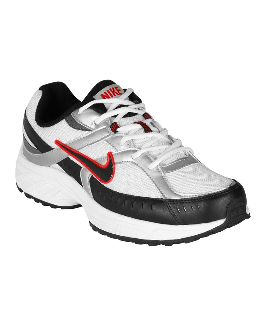 huge discount 6c2ab 383cb Nike White Mesh Textile Running Comfortable Men Sport Shoes - Buy Nike White  Mesh Textile Running Comfortable Men Sport Shoes Online at Best Prices in  India ...