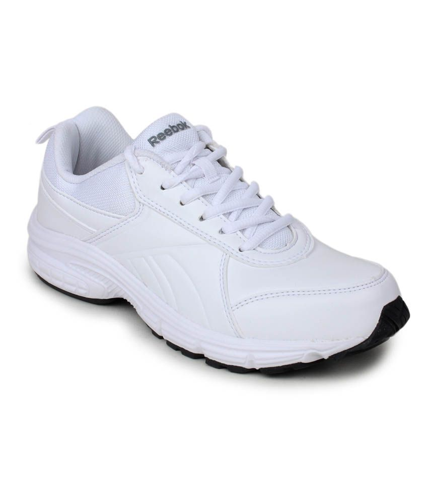 Reebok White Synthetic Leather Sports Shoes Price in India- Buy Reebok  White Synthetic Leather Sports Shoes Online at Snapdeal 135778af6