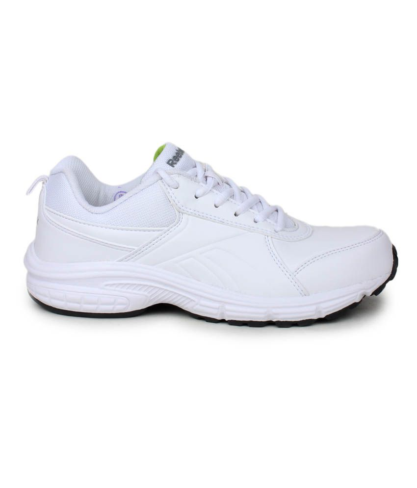 Reebok White Synthetic Leather Sports Shoes Reebok White Synthetic Leather  Sports Shoes ... bda0eb4e2