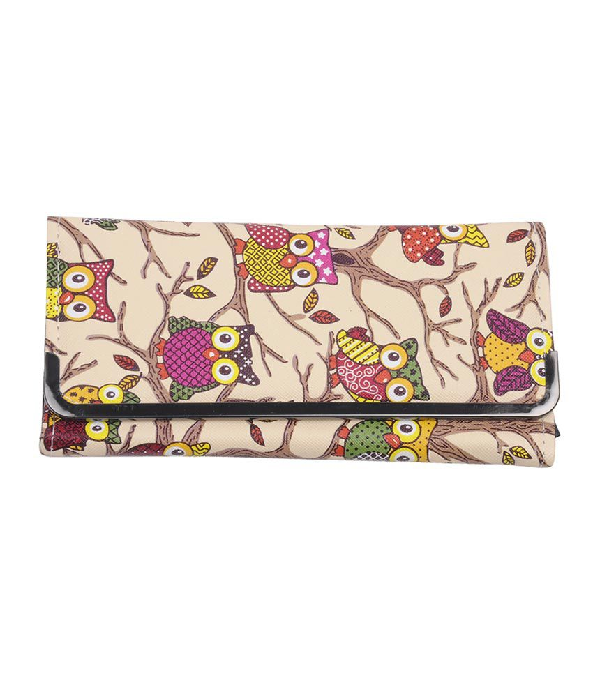 Sparsh Quirky Creamy Owl Wallet