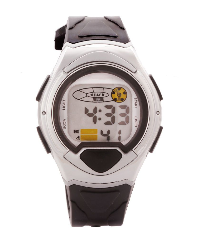 Telesonic Black Silicon Digital Sports Watch For Kid