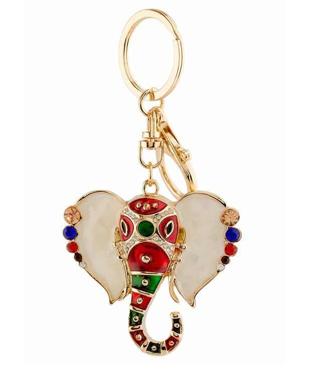 Blessing Auspicious Lord Ganesha Multi-Purpose Fashion Stylish Locking Key Chain By Yellow Chimes