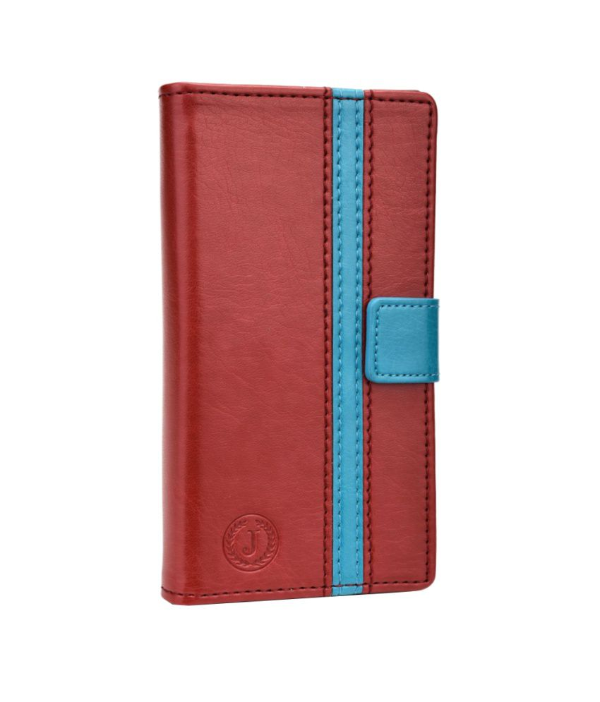 Jo Jo Cover Pluto Series Leather Pouch Flip Case For XOLO X1000 Red Light Blue