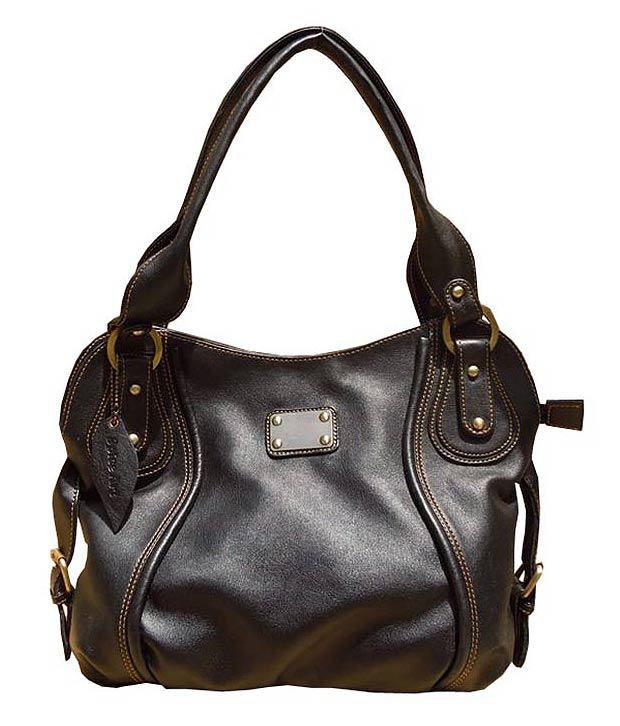 Spice Art Black Satchel Bag