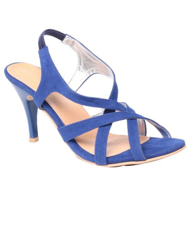 Feel It Classy Blue Heeled Sandals