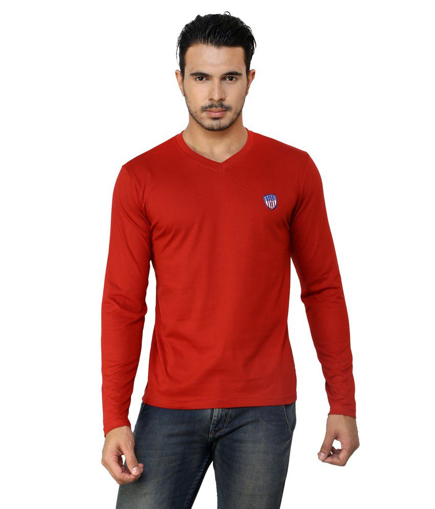 af8143de Free Spirit Solid Red and Black Full Sleeve T-Shirt Combo - Buy Free ...