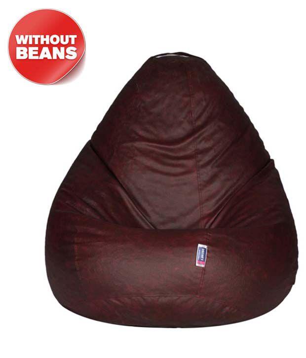 Desires Black Leatherette Bean Bag Chair Cover