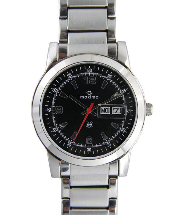 Maxima Silver Analogue Wrist Watch For Men