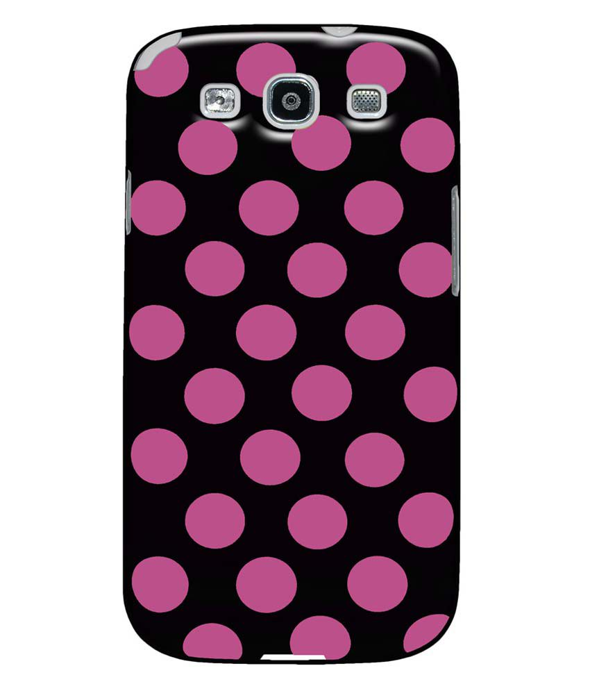 outlet store 1fdff 6c371 Amzer Polka Dot Back Cover Case For Samsung GALAXY S3 Neo GT-I9300I &  Samsung GALAXY S III GT-I9300 - Black/Pink