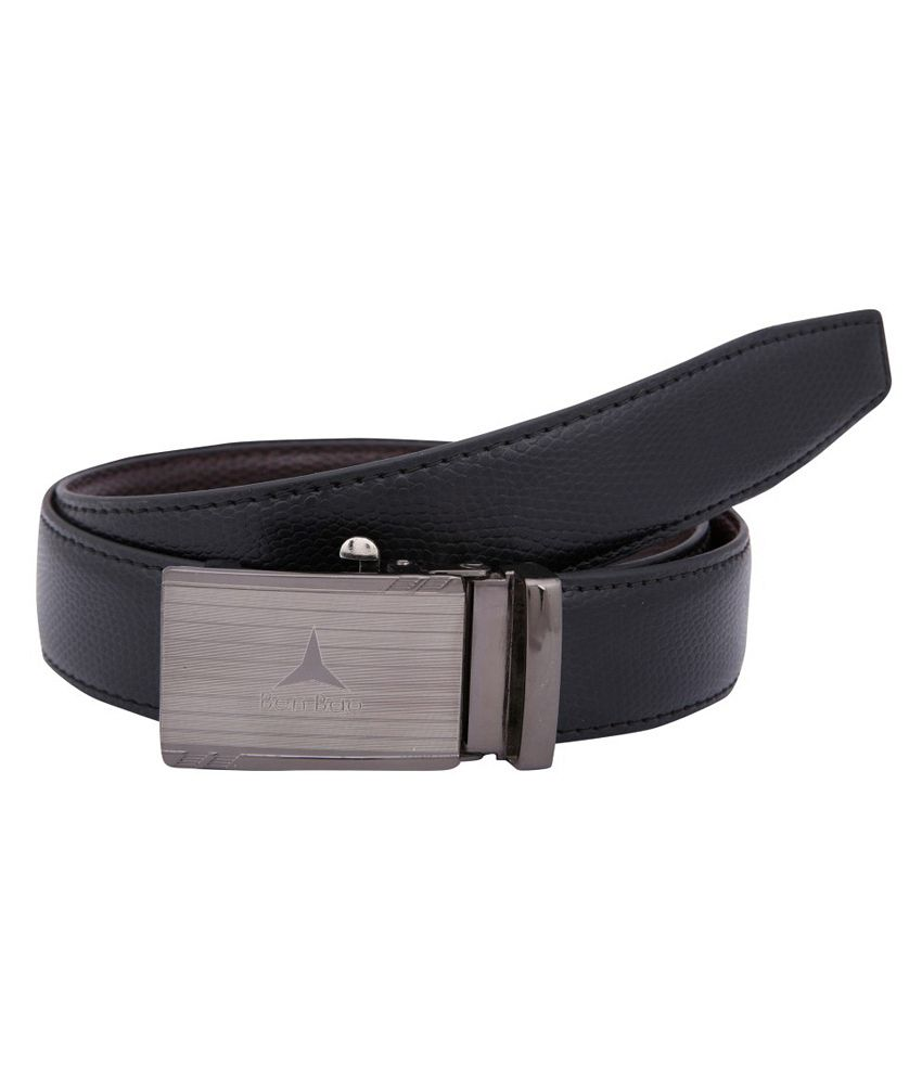 Dharavi Market Genuine Italian Leather Black Omega Texas Belt (Reversible Belt)