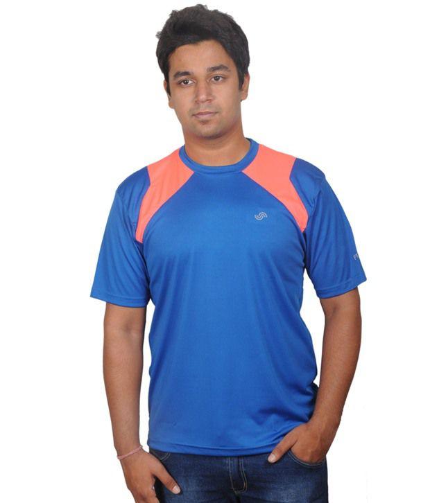 Fitsoul Blue Polyester T-shirt