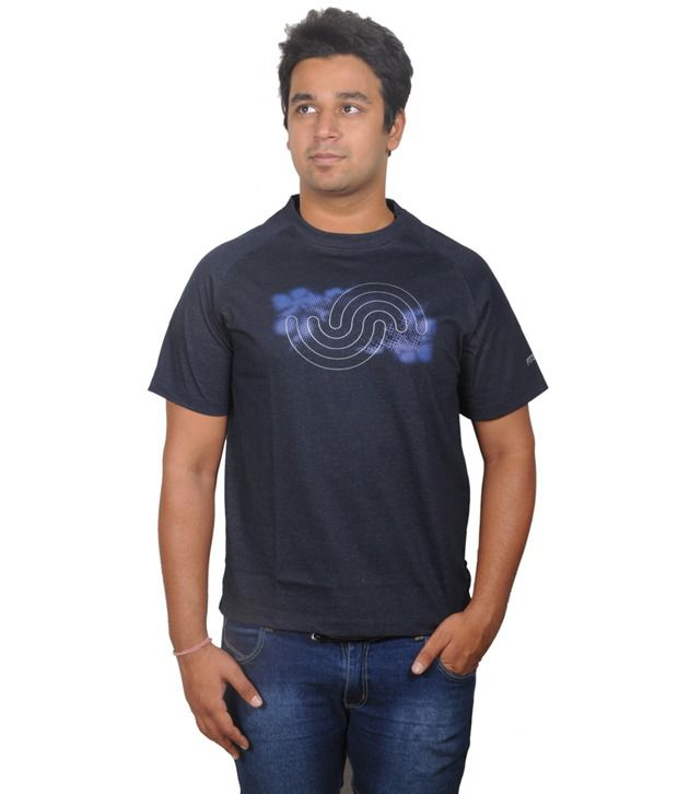 Fitsoul Navy Polyester T-shirt
