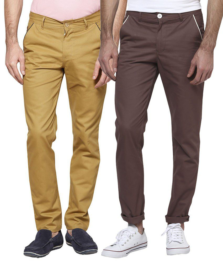 Haute couture combo of classic brown chinos buy haute for Haute couture cost