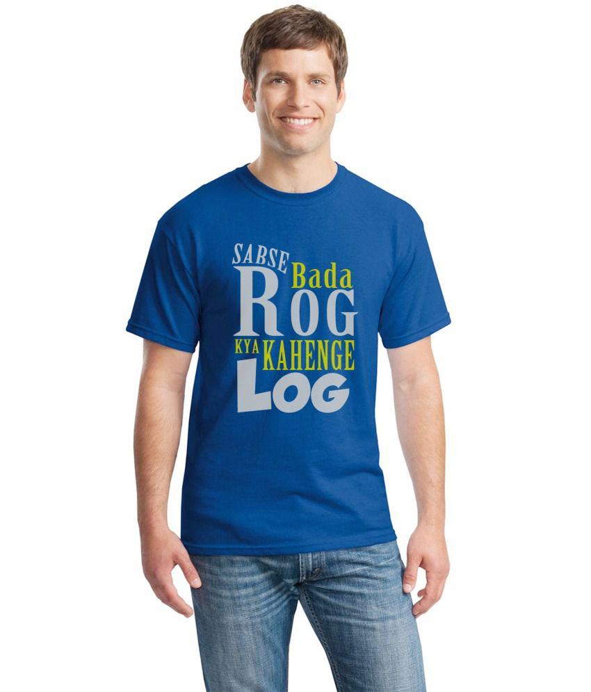 Inkvink Clothing Blue Cotton T Shirt