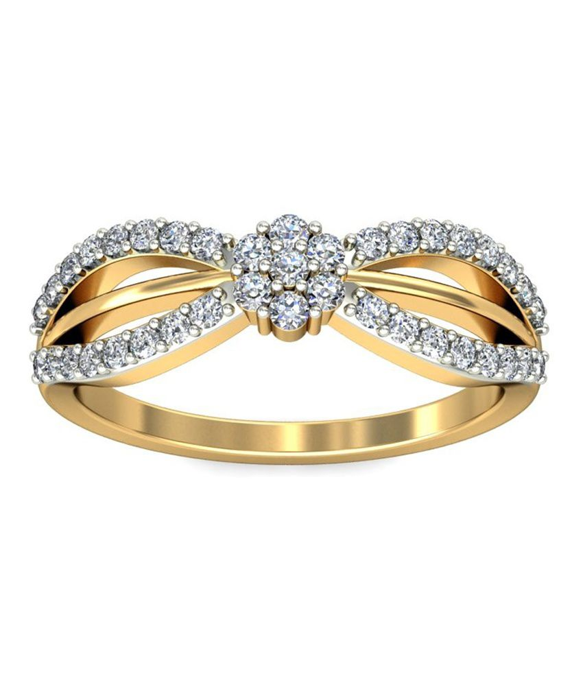 Jewelsnext 18kt Gold Contemporary Marci Diamond Ring