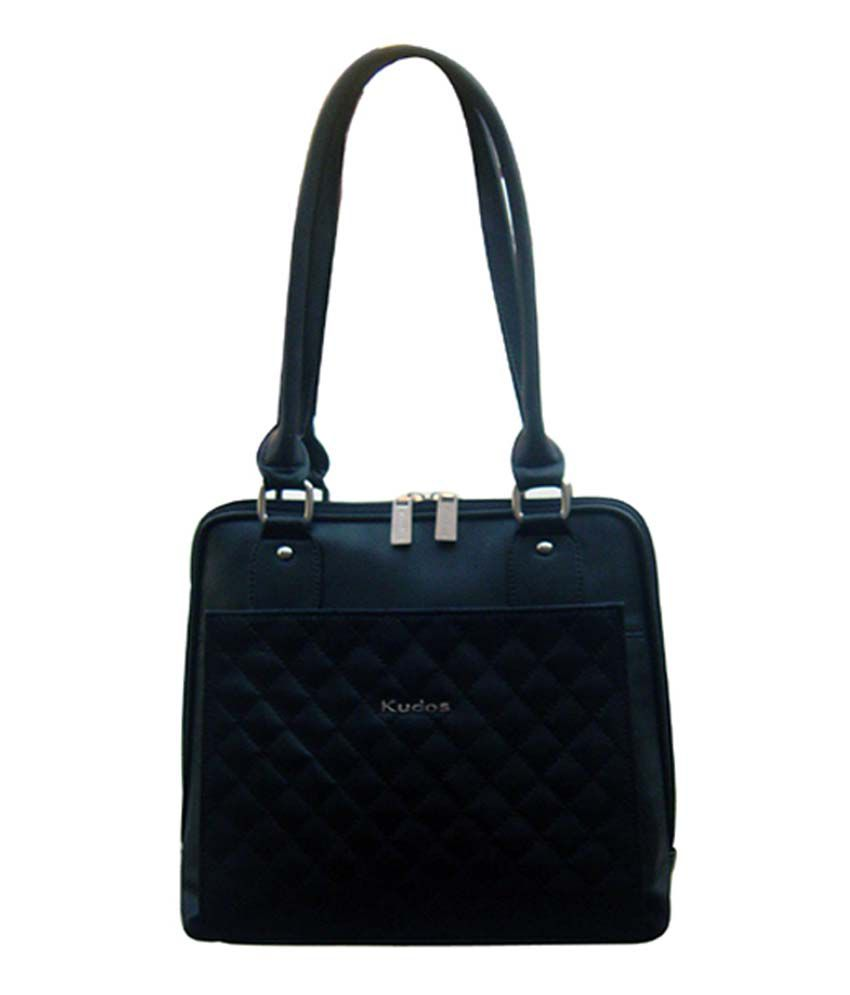 Kudos Black Non Leather Shoulder Bag