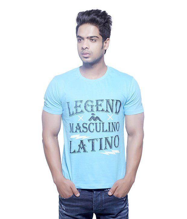 Masculino Latino Beige Cotton Half Sleeve T Shirt