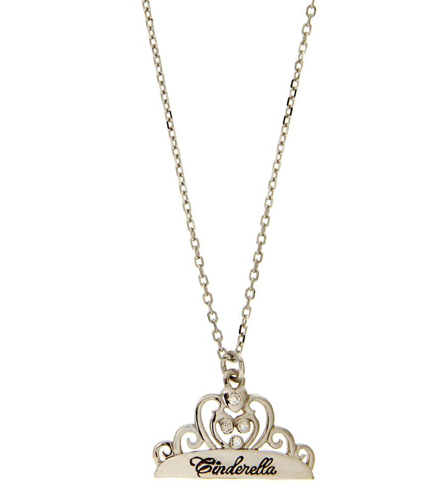 Disney Micron Silver Plated Princess Cinderella Necklace