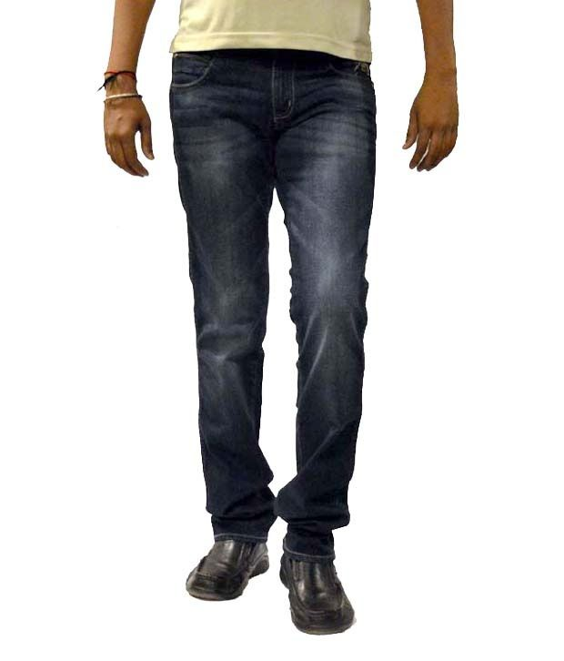 Wrangler Blue Cotton Stretchable Denim Jeans
