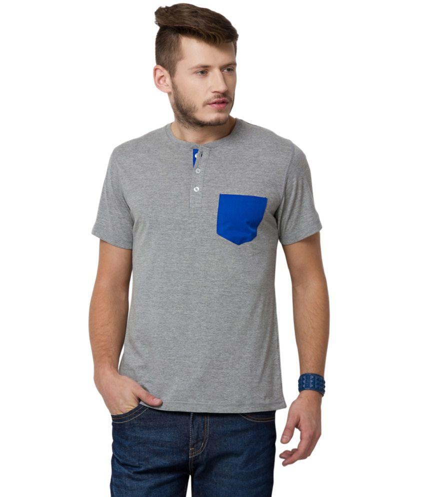 Yepme Grey Cotton T-Shirt