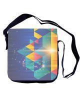 Shaildha Black Color Canvas Sling Bag With Detachable Flap. - 642382737286