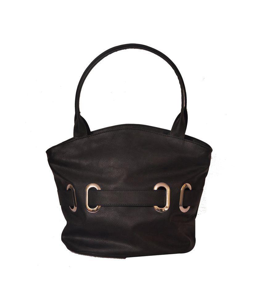 Th Runner Black Buckel Design Handbag