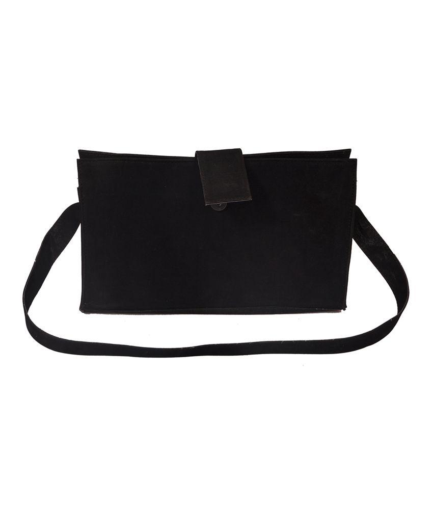 The Runner Black Suade Bag