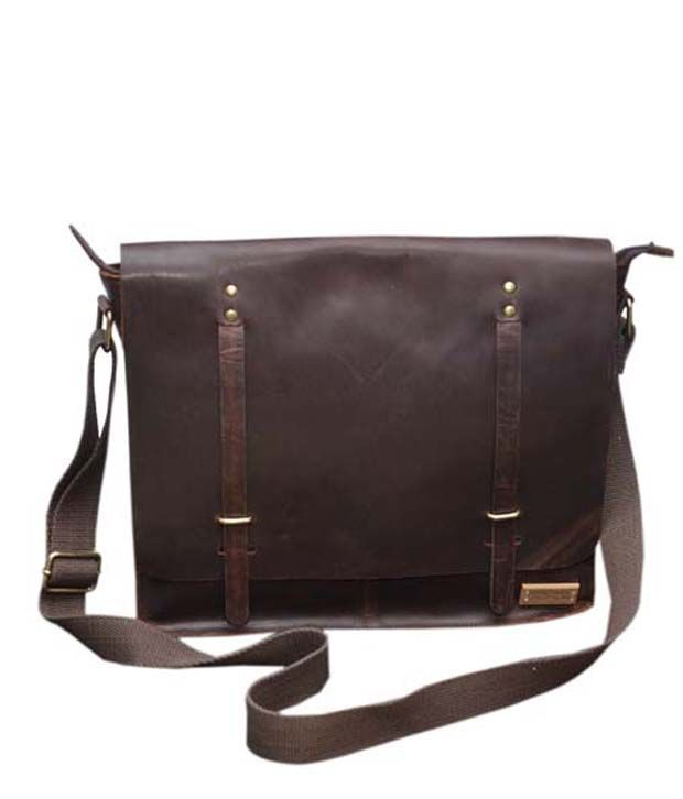 Le Craf Kingston Brown Stylish Laptop Bag