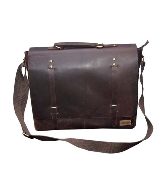 Le Craf Malcom Brown Stylish Laptop Bag
