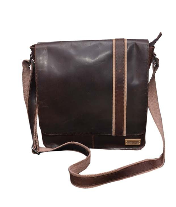 Le Craf Parker Brown Stylish Messenger Bag
