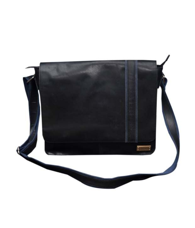 Le Craf Steven Black Stylish Laptop Bag