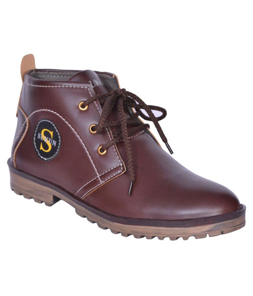 Sukun Sturdy Brown Boots
