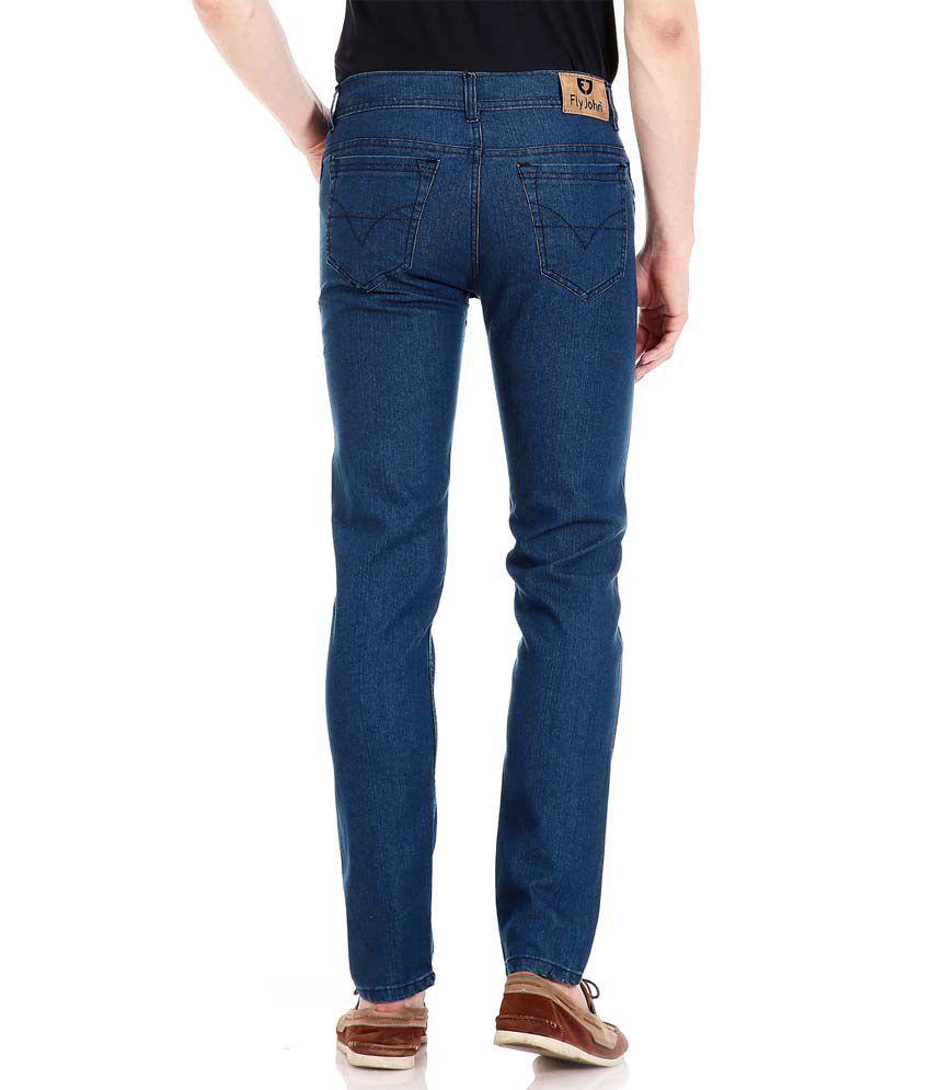 2f546c552e2 Flyjohn Men s Light Blue Denim Jeans - Buy Flyjohn Men s Light Blue ...