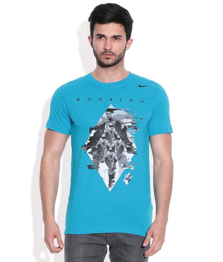 Nike Blue Round neck t-shirt