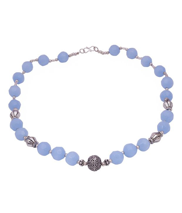 Gemstone Pioneer Style Diva Blue German Silver Contemporary Necklace