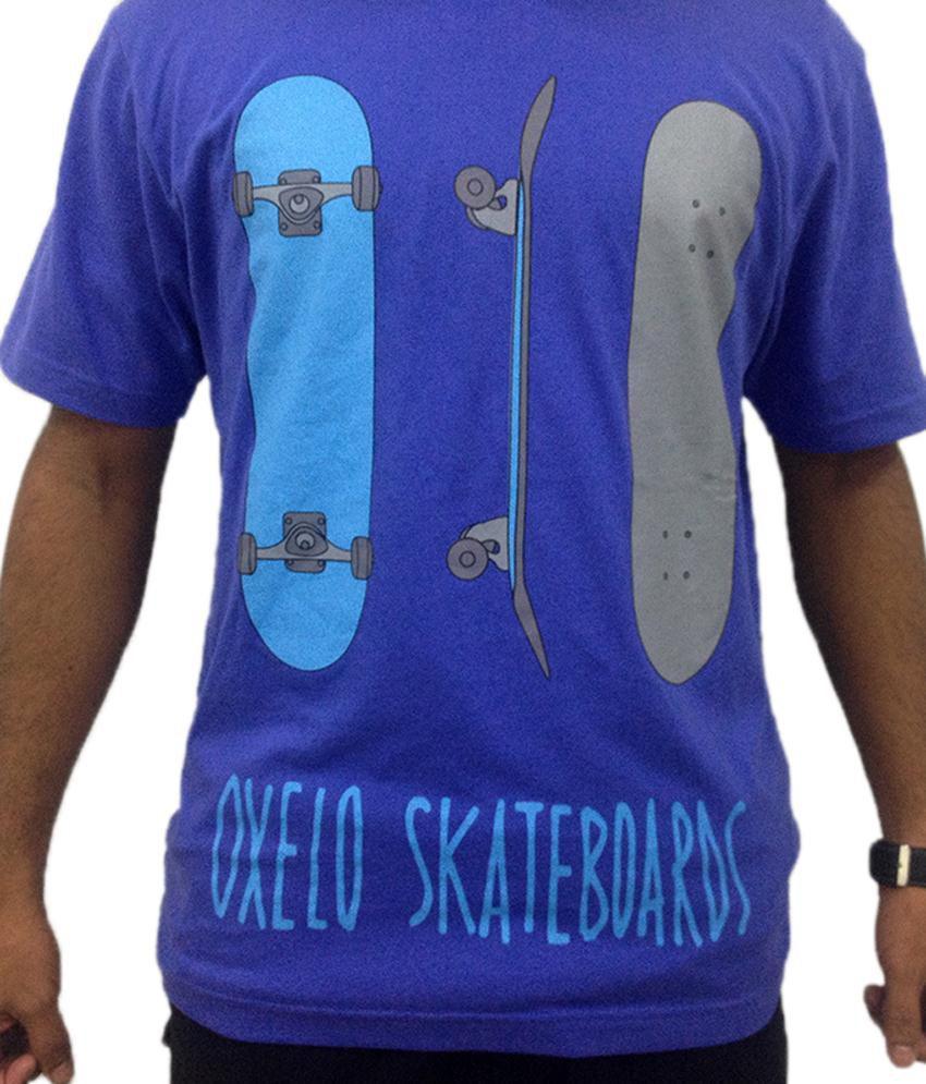 Oxelo Skate Blue Skating T Shirt