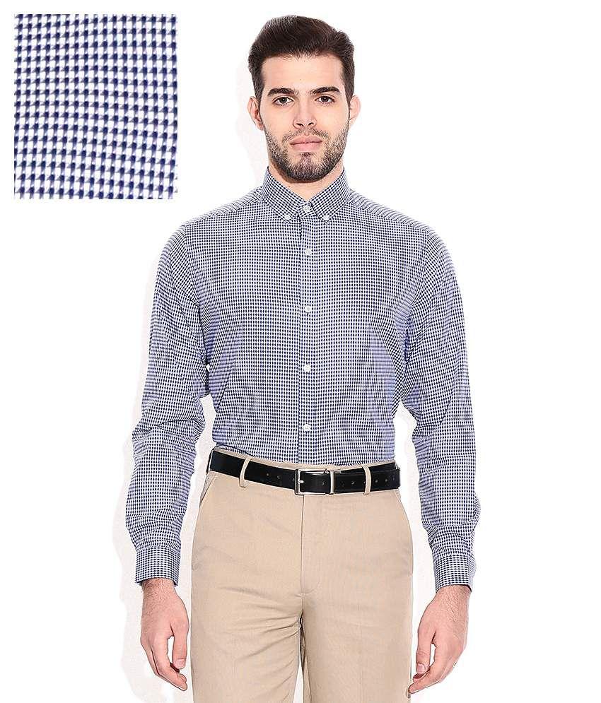 Geoffrey Beene Blue Regular Fit Formal Shirt Buy Geoffrey Beene