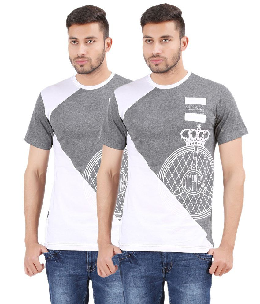 Harsha Men's Fashion Printed Round Neck Cotton T-shirt
