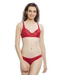 Lady Love Red Net Bra & Panty Sets