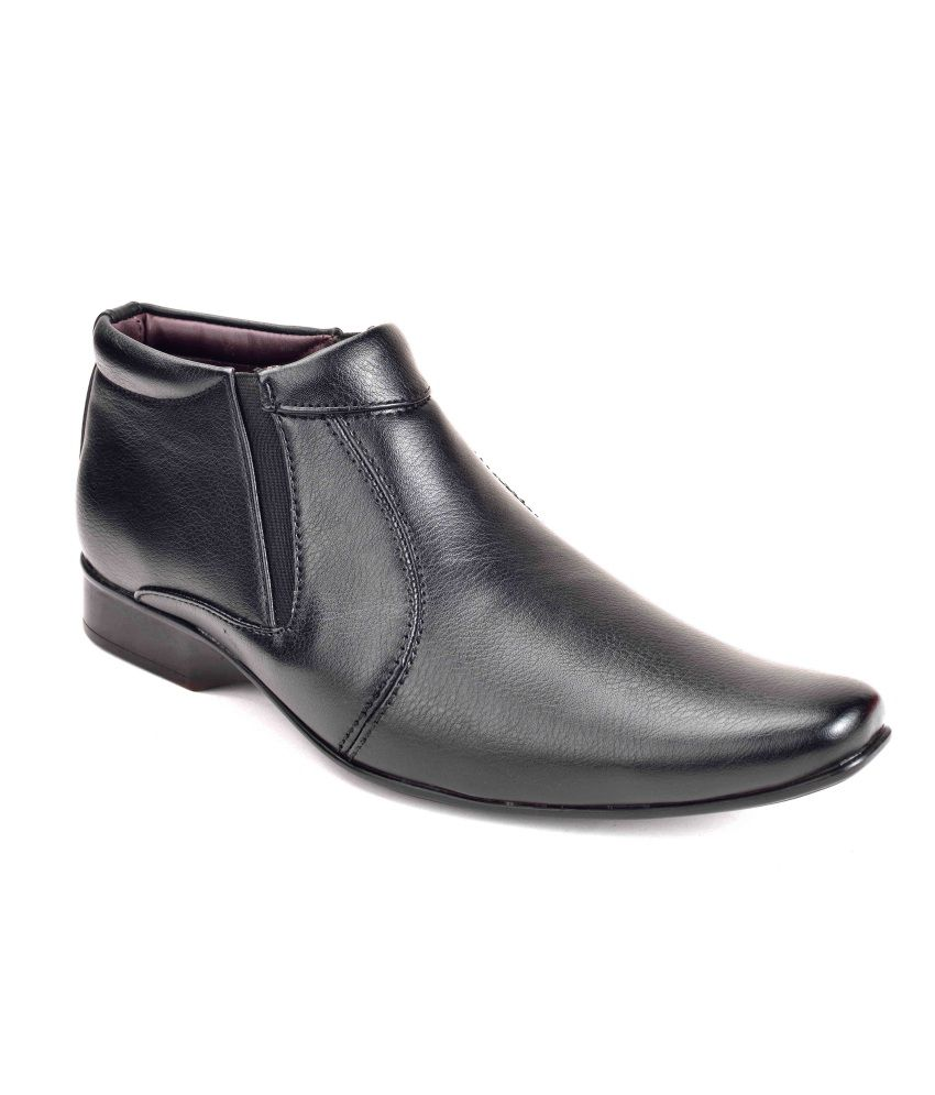 Ferraiolo Black Synthetic Leather Formal Boot For Men