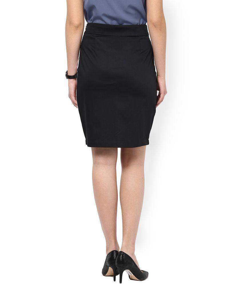 Buy Kaaryah Women's Black and White Panelled Pencil Fit Formal ...