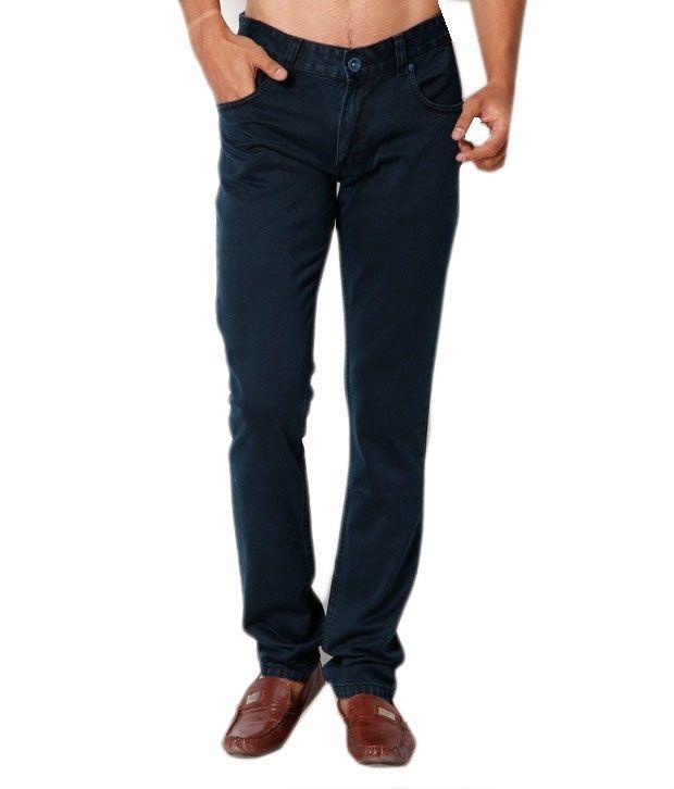 Mukul Collection Dark Blue Cotton Blend Demin Jeans - Set of 6