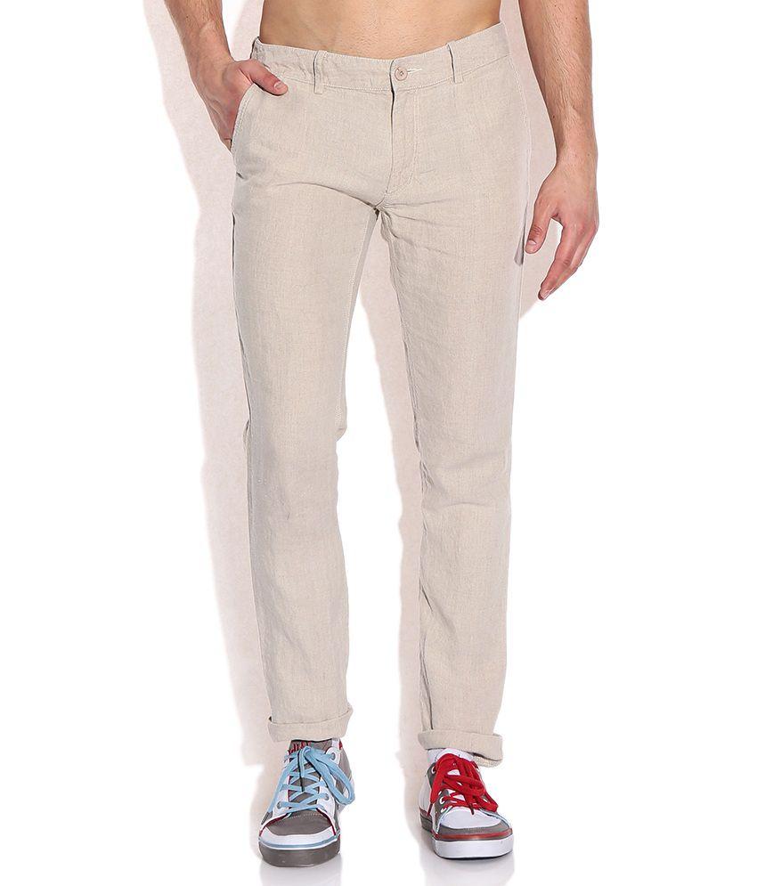 8984dea16a8 Celio Beige Linen Trouser - Buy Celio Beige Linen Trouser Online at Low  Price in India - Snapdeal