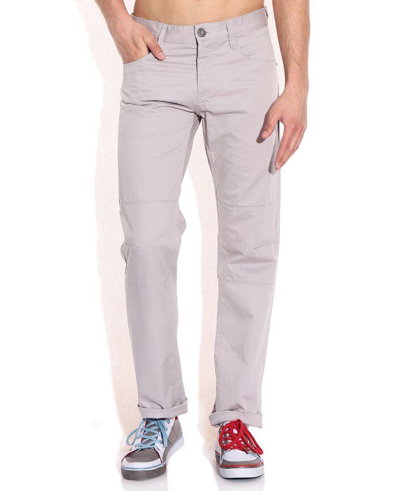 Celio Gray Cotton Trouser