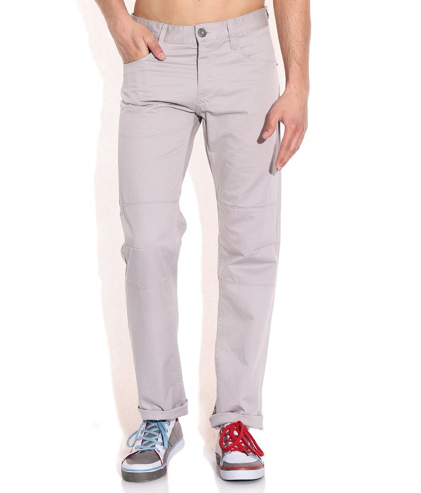 Celio Gray Cotton Trouser