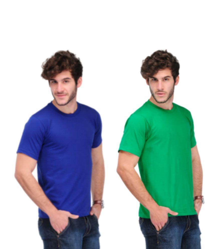 TSX Combo Of 2 Solid T-shirts